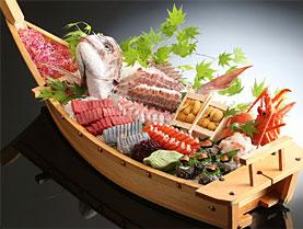海鮮刺身舟盛り