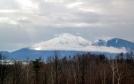 浅間山の冠雪