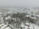 草津町内の雪景色