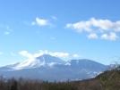 浅間山にも雪がつきました!
