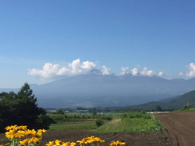 嬬恋村の仙之入から見た浅間山